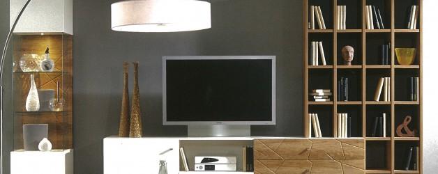 Wohnwand inkl. LED Beleuchtung Prenneis – VERKAUFT