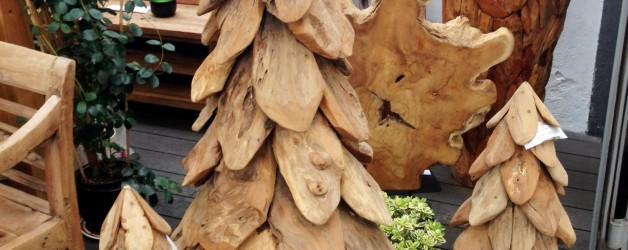 Neu – gerade eingetroffen – Teakbäume, Schüsseln, Holzskulpturen uvm.