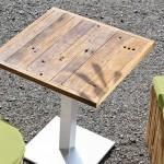 Tisch System – Stern – Old Teak Platte