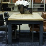 B&B Tisch Sessel Freischwinger Büffelleder